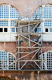 wooden scaffolding Istanbul Turkey
