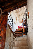 man made stair to bedroom, Capadocia