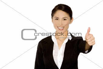 thumb up from business woman