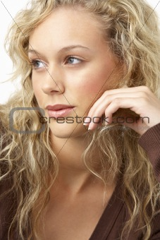 Portrait Of Young Woman Looking Thoughtful