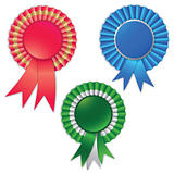 Blank award ribbon rosette for winner