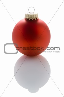 Single Red Christmas Tree Bauble