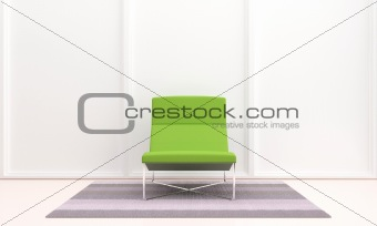Green seat in interior
