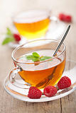 tea with mint and berry