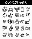 web doodle icon set