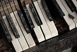 Broken Old Piano Keys