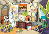 The surfer's room.