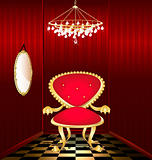 red chair in a red room