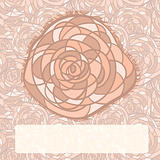 vector rose on seamless  background, place for your text
