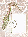 vector hand drawn woodpecker bird holding frame for your text