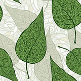 vector seamless vintage green leafs