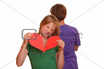 Teenage couple - first love - broken heart