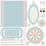Pastel tags, background and trims