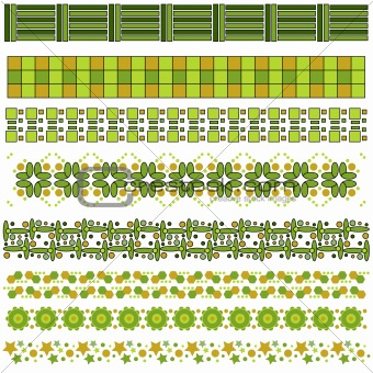 Green and brown trim or border collection