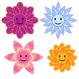Smiling, colorful flower collection