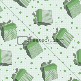 Tiling texture with green boxes