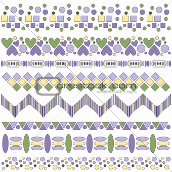 Beautiful colorful trim collection