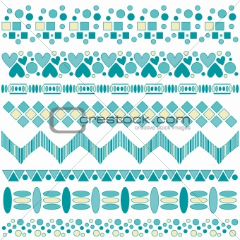 Beautiful turquoise and yellow trim collection
