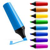 Realistic multi-colored markers
