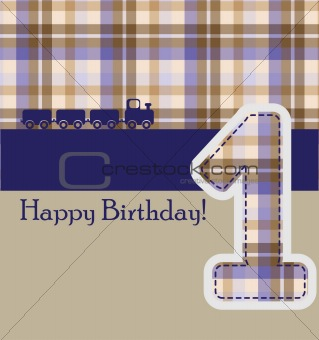 Image 4028520: happy birthday card with train illustrat