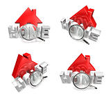 3d home icon array
