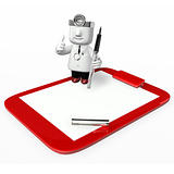 3d medical doctor checking