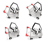3d shopping cart array