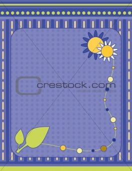 Background with flowers and leaf