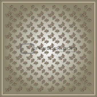 Beautiful background with hearts and dots pattern