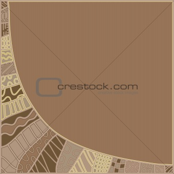 Beautiful brown background with pattern
