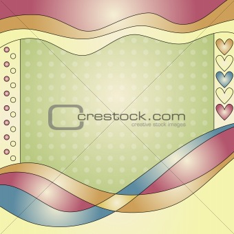 Beautiful background with hearts and dots