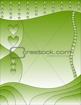 Green background with heart