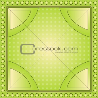 Beautiful green background with dot border