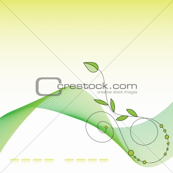 Beautiful green and yellow background