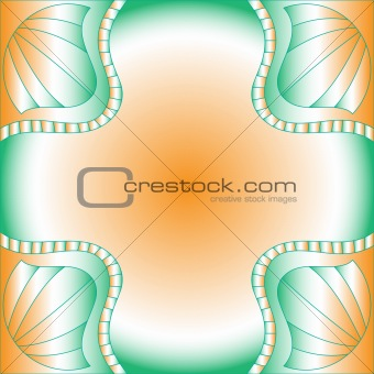 Beautiful orange, green and white background