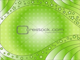 Green background with dots and stars