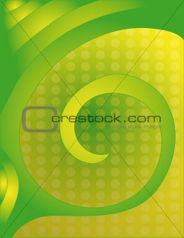 Beautiful green and yellow spiral background