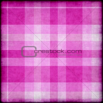 Grunge background with pink plaid pattern