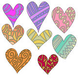 Whimsical, colorful heart collection