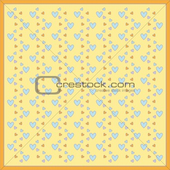 Background with beautiful heart pattern
