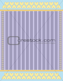 Background with stripes and hearts