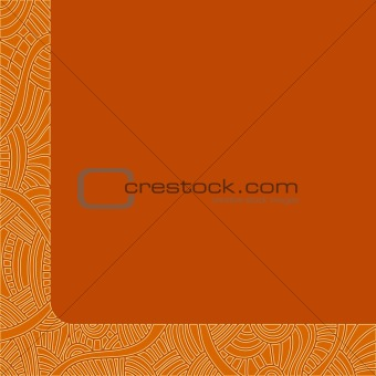 Beautiful orange background with detailed pattern