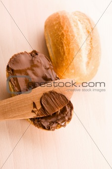 Bread with chocolate