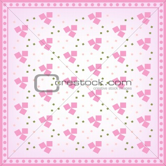 Background with pink and green pattern