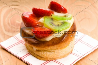 French cake with fresh fruits