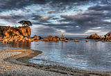 Russia, Primorye, sunset seascape