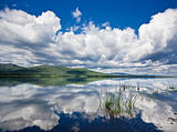 Russian, Primorye, beautiful sunny lake