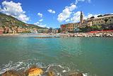 Touristic resort on Mediterranean sea in Italy.