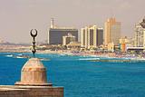 Tel-Aviv coastline view.