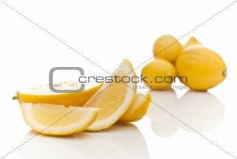sliced ripe lemon